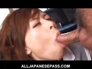 Cum on suit Bound japanese babe in dress suit gags on cum