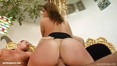 Messy creampie scene with superhot Mel from All Internal