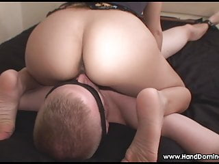 Fucked helpless Teen gets her bubble butt licked by helpless slave