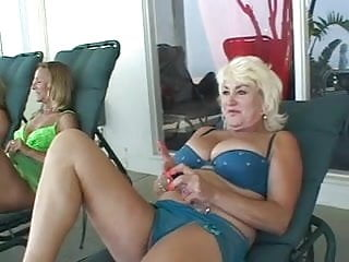 Three dicks one slut Three sexy lesbian sluts with great asses fuck each other with strap ons