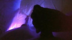 Girl sucks my cock in a tent