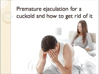 Sissy caption xxx Premature ejaculation for a cuckold caption