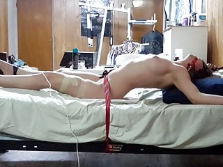 Post op tranny orgasm - Post orgasm torture to my girlfriend witha magic wand.