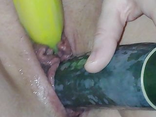 Vegetables in pussy Fruits and vegetables