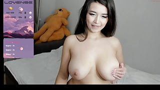 Chubby asian young girl with big boobs, naked girl