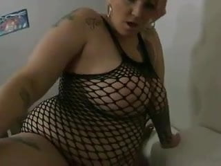 Shemale jerking cum shot - Bbw sucks fucked by bbc hard deep tit cum shot