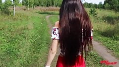 Fucked a friend's girlfriend in nature