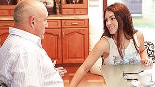 DADDY4K. Smart teen seduces old guy to satisfy all her...