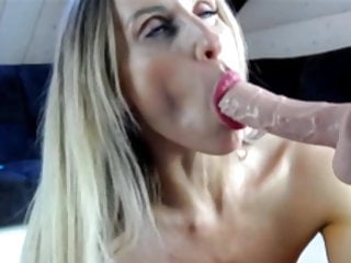 Amazing deep throat girl - Amazing fit blonde milf deep throat dildo and fuck