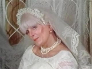 Big tits matures vintage Big tits granny candy samples masturbates in wedding dress