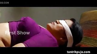 Hot Indian Milf blindfolded with Ice Cube on navel