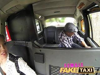 Gay movie actor Femalefaketaxi busty driver swallows actors cum