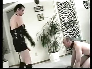 Femdom leashed cock - Kat - bitch with a leash