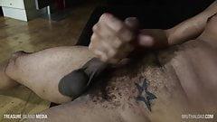 NutsDeepBB jerking his giant black dick