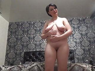 Fergie herself peeing Big-tit brunette drinks pee and fondles herself