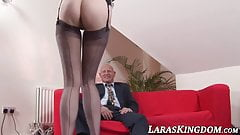 Busty British mature doggy style fucked moans and orgasms