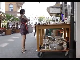 Fetish motion backgrounds Slutty heels in public slow motion