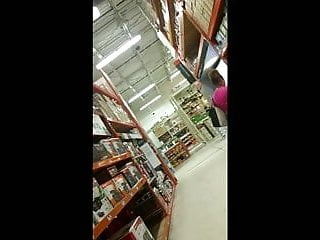 Nude home depot Big booty in home depot