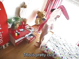 Couple teen foreplay video - Subtitled bizarre and funny japanese teen foreplay in pov