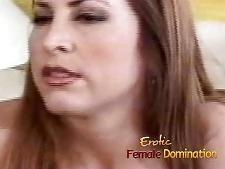 Coc takes cock in the butt - Dominant milf makes her slave take a dildo in the butt