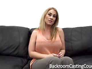Fletching ass Big tit milf assfuck on casting couch