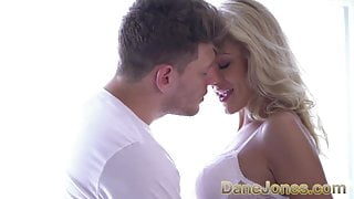Dane Jones Horny blonde Serb in sexy white lingerie