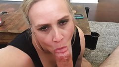 Amateur blonde POV BJ