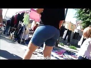 Street voyeur upskirt Candid mature big butt - ass voyeur - street booty 6