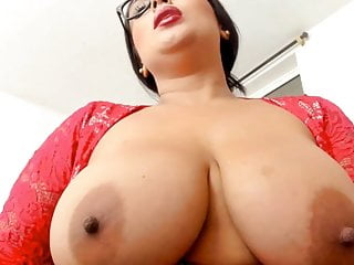 Free huge in lingerie picture sexy tit Sexy bbw girl with glasses, huge tits, lingerie fucks pussy