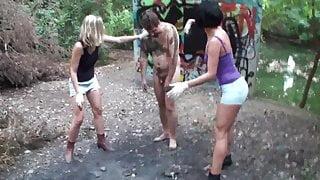Femdom Ladies tortures slaves