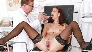 Slender MILF Ali Bordeaux fucking machine orgasm