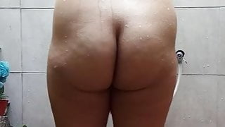 My wife having a shower