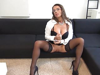 Panthyhose secretary sexy - Sexy susi german mommy big tits secretary anal stockings