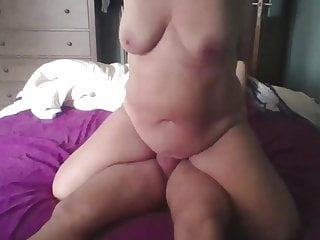 My moms big tits Her big tits are swaying on my cock and she enjoys