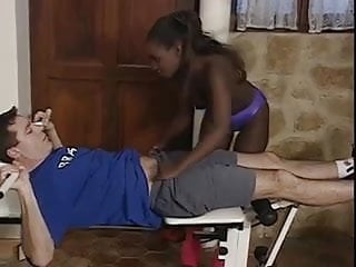 Escort exchange - Black exchange student getting fucked by host father