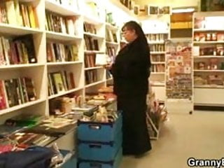 Horny bookworm slut Fat mature bookworm is seduced and fucked by young guy