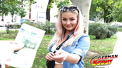 GERMAN SCOUT - CURVY COLLEGE TEEN FUCK AT PICK UP CASTING