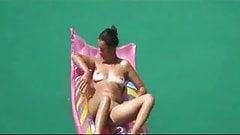 Nudism on a beach