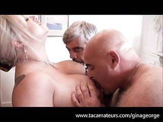 Bush george monkey pornography - Big tit british housewive gine george gets double fucked