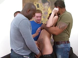 2 cocks fit in same pussy - Fucked by multiple cocks in the same time in ass pussy mouth