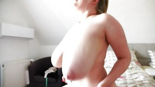 Blonde Babe - Bouncy Tits Bed