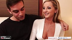 MILF in high heels Melissa Matthews gets fucked and facializ