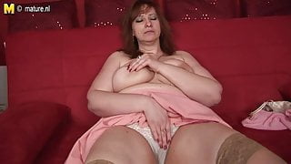 Busty stepmom-next-door with hungry vagina