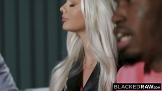 BLACKEDRAW, Gorgeous young blonde besties take on two BBCs