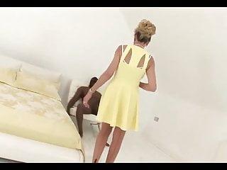 Interracial cumshot videos - Big titted mature thakes it rough.