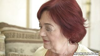 Redhead mommy losing at cards, needs to fuck