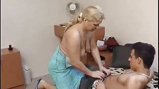 Mature Elza and her Young Lover