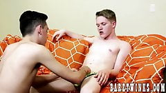 Skinny fruits Connor Jacobs and Taylor Tyce go crazy in bed