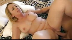 Mature with great hangers enjoys a young cock