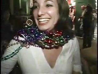 Sexy public flasher Big breasted mardi gras flasher